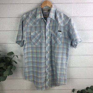 Vintage Genuine Roebucks Men's Large Western Shirt